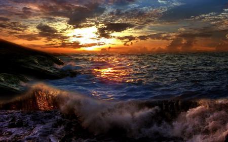 Фото море, волны, шторм, облака