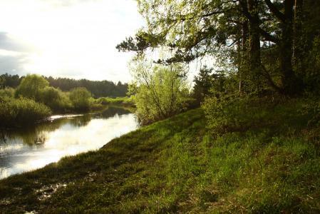 Картинки природа, пейзаж, вечер, река