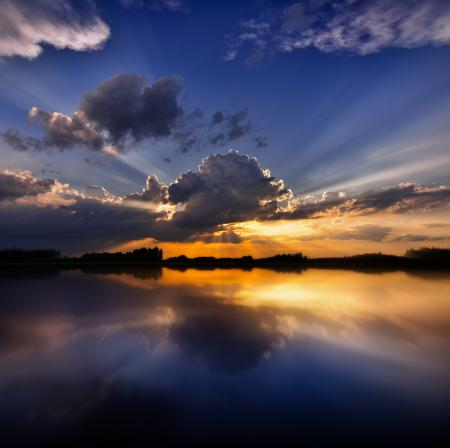 Картинки озеро, небо, облако, туча