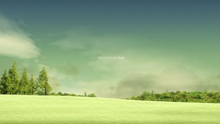 Картинки лето, поле, деревья, настроение