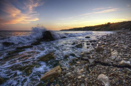 Картинки море, побережье, берег, камни