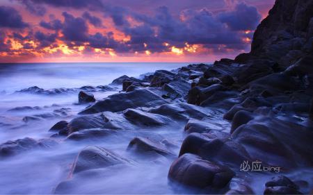 Картинки скала, море, небо