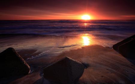 Фотографии закат солнца, вечер, солнце, море