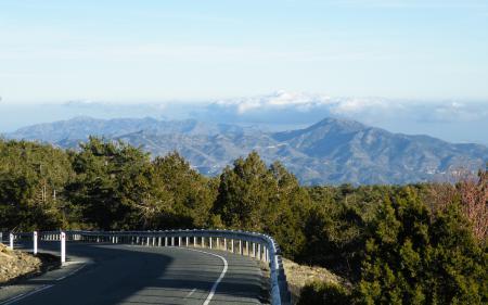 Фото кипр, дорога, горы, облака