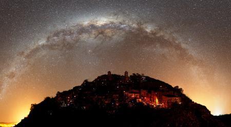 Картинки Млечный путь, небо, звезды, горы