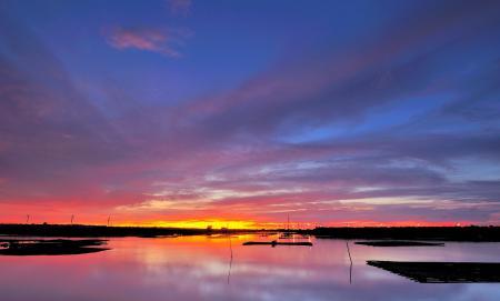 Картинки Море, вечер, закат, небо