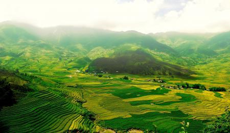 Картинки долина, поля, ступени