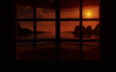 Заставки закат, вечер, темно