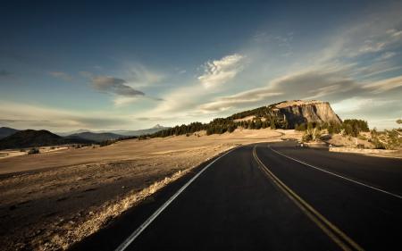 Фото дорога, поле, небо, пейзаж