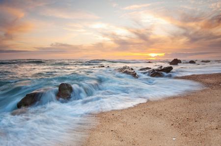 Заставки Figueira Da Foz, Portugal, рассвет, берег