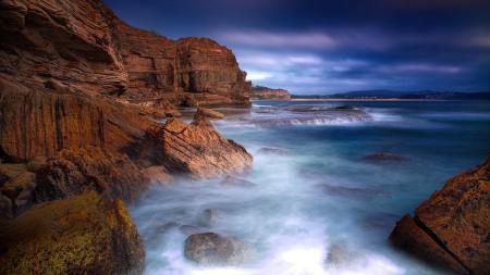 Обои пейзаж, скалы, камни, море