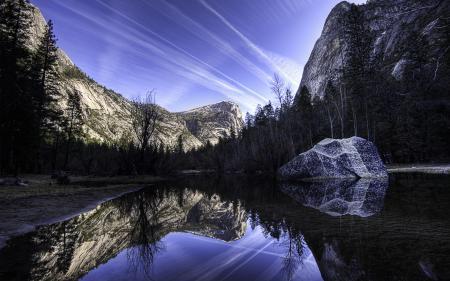 Фото озеро, mirror lake, сша