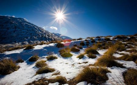 Заставки природа, пейзаж, зима, горы