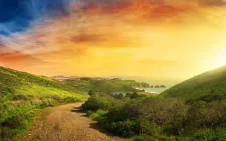 Обои города, природа, дома, море