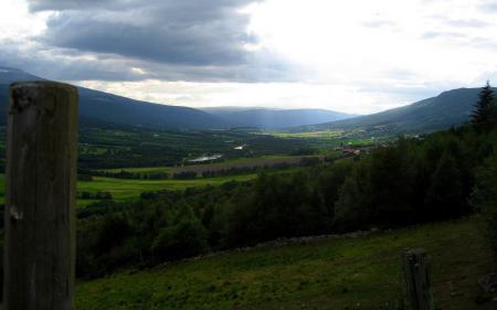 Фотографии долина, деревья, горы, свет