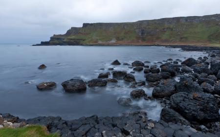 Фотографии ирландия, тропа великанов, залив, вода