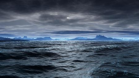 Картинки море, пасмурно, облака