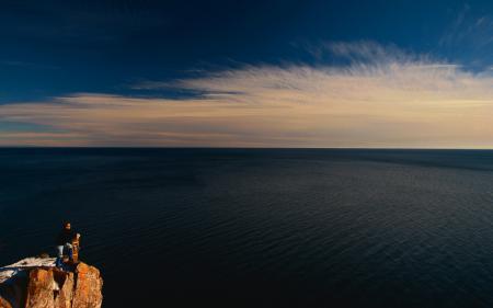 Картинки море, небо, гора, природа