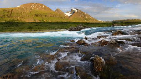 Фото река, горы, вода