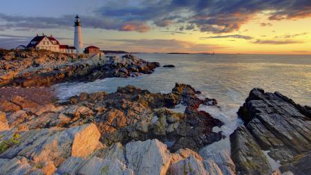 Заставки море, Маяк, камни