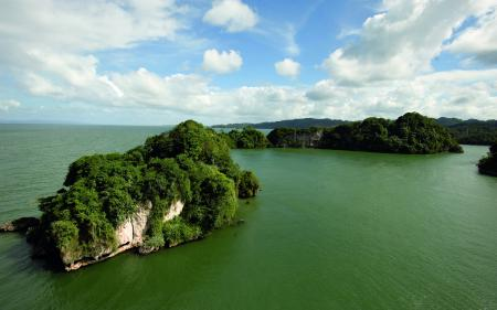 Заставки океан, острова, растительность, зелень