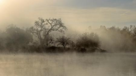 Фотографии Пейзаж, природа, туман, озеро