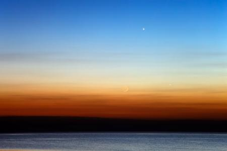 Картинки Луна, Венера, Меркурий, океан