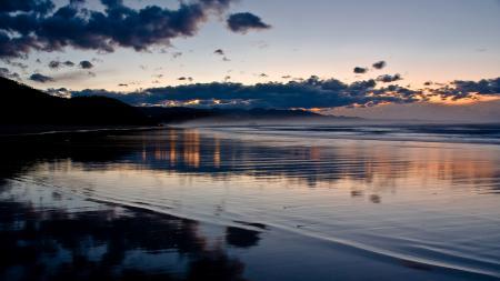 Обои вечер, пляж, море, побережье