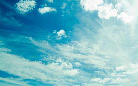 Фото небо, облака, синее