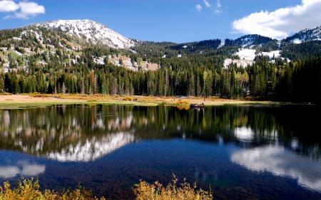 Заставки горное, озеро, отражение, природа