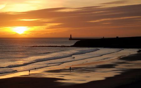 Фотографии закат, море, небо, пляж