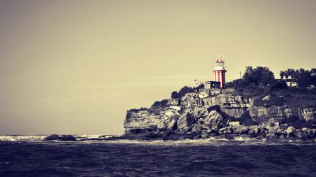 Фото маяк, камни, берег, море