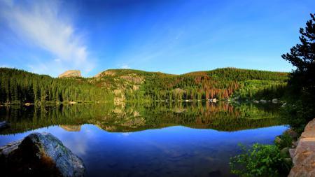 Обои Bear lake, reflection, природа, озеро
