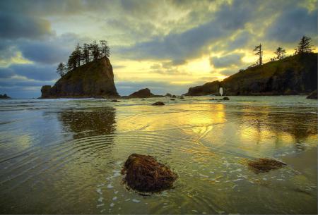 Обои Море, остров, скалы, камни
