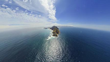 Фотографии мыс, океан, облака, горизонт
