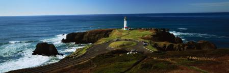Фотографии панорама, Орегон, Северная Америка, маяк