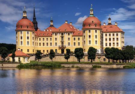 Обои Замок, castle, замок Морицбург, Саксония