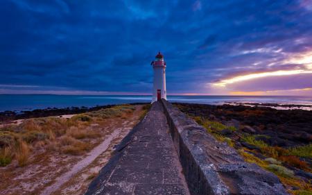 Заставки закат, море, маяк