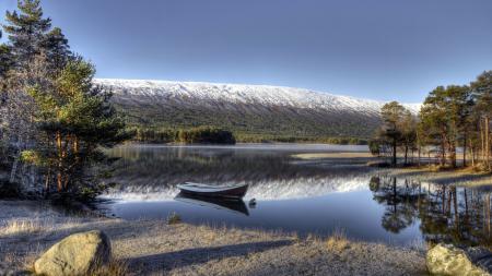Фотографии озеро, горы, лодка