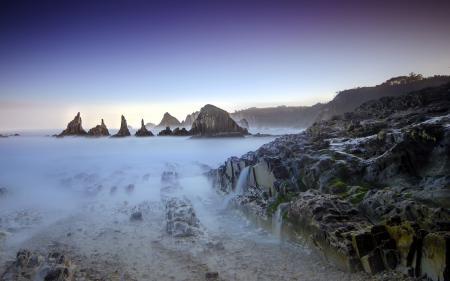 Обои landscape, long exposure, playa, seaescape