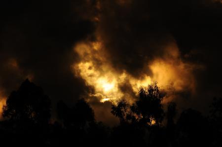 Фото закат, золотой, тучи, облака