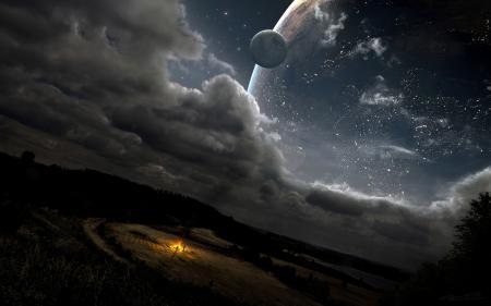 Картинки dream, звезды, костёр