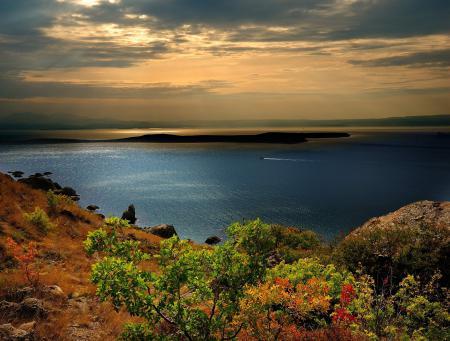 Заставки Крым, горы, Черное, море