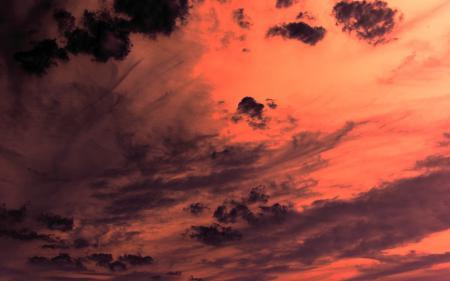 Фотографии облака, оранжевый, закат, тучи