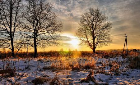 Обои природа, пейзаж, зима, снег