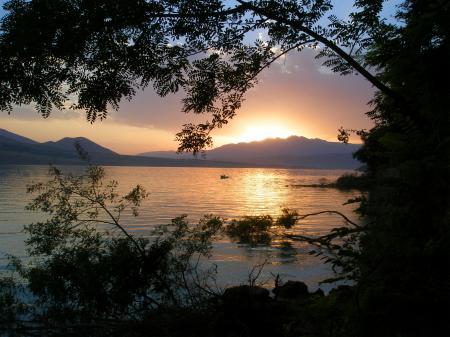 Фотографии вода, закат, природа