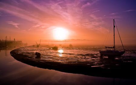 Картинки рассвет, утро, туман