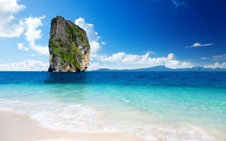 Фото скала, море, песок
