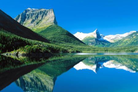 Фото США, Монтана, национальный парк, озеро