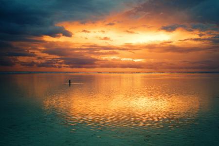 Фото море, небо, облака, прогулка